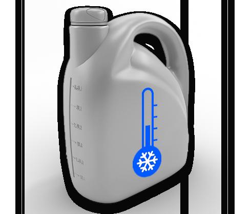 Jug of car coolant