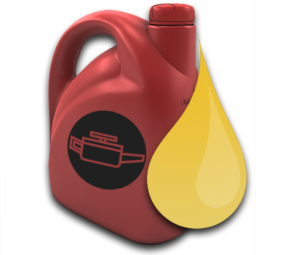 Bottle of car oil