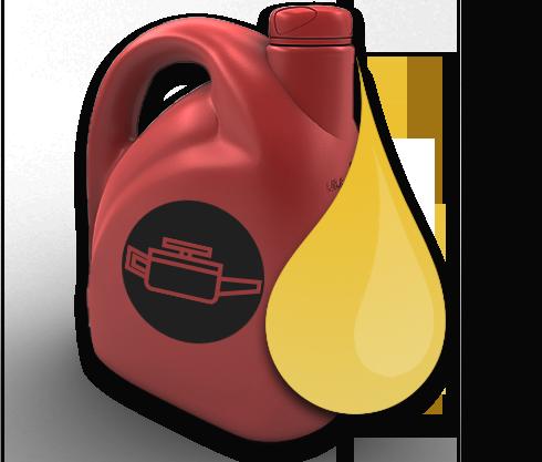Bottle of car oil