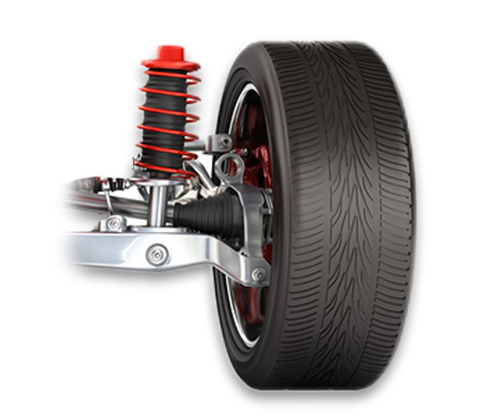 Car wheel and suspension