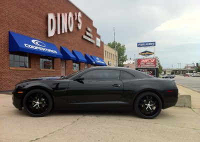 Camaro in front of Dino's
