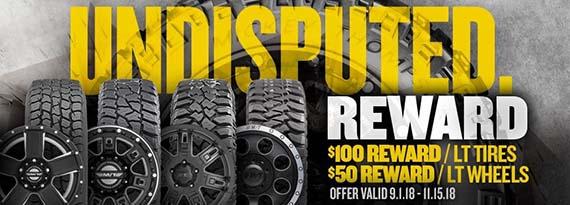 Undisputed tire rebate
