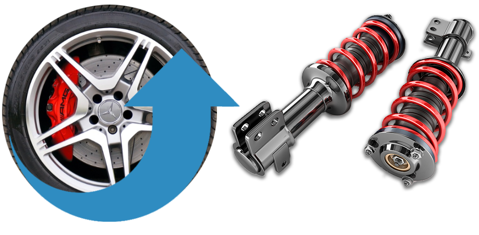 Car Wheel and Shocks