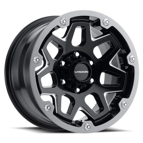 416 SE7EN | GLOSS BLACK MILLED SPOKES WHEEL