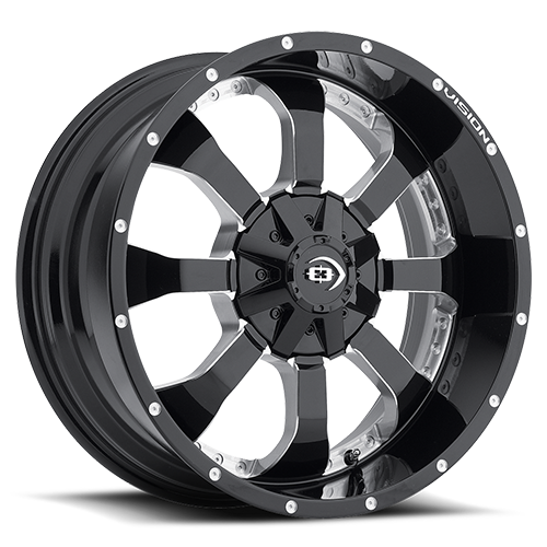 420 LOCKER |GLOSS BLACK MILLED SPOKES WHEEL